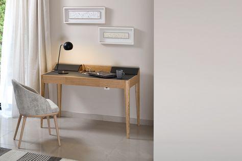 Petit bureau pour la maison alex avec rangement et sous mains