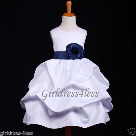 Aqua Flower Girl Bridesmaids Elegant Sequence Pageant Recital Girl Dress #18