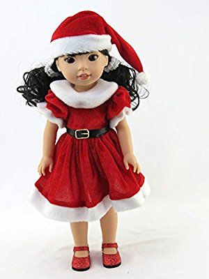 "Red Sailboat Nautical Dress Doll Clothes Fits 14/"" Wellie Wishers American Girl"