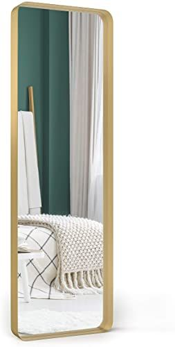 Amazing Offer On Upland Oaks Large Full Length Body Mirror Floor Wall Bedroom Metal Frame Big Tall Standing Mirrors Leaning Long Full Length Leaner Mi In