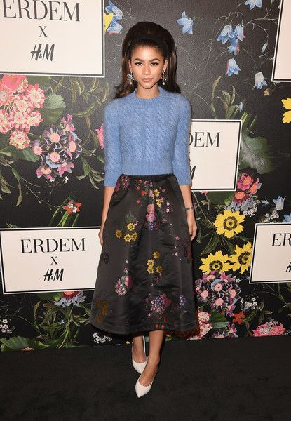 Zendaya attends the H&M x ERDEM Runway Show & Party at The Ebell Club of Los Angeles.