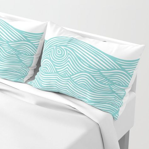 Queen Threshold Vintage Washed Print Percale Sheet Set-Pond Green
