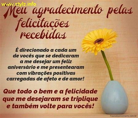 Agradecimento Pelas Felicitacoes Com Imagens Frases De