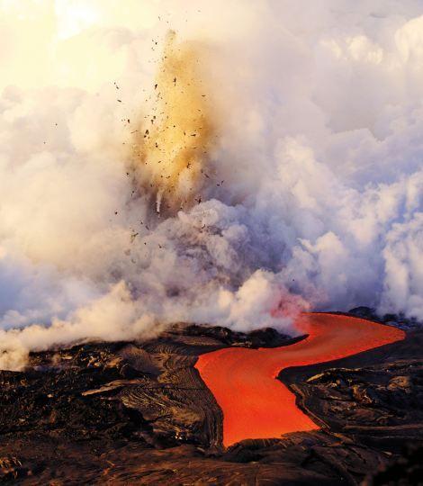 Kiluea Volcano Eruption, Kalapana, Hawaii, U.S.