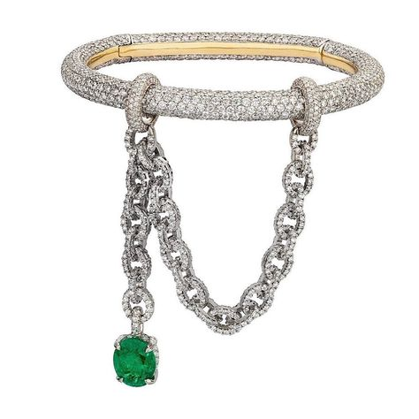 Chunky Pave Classic Link Chain Bracelet J Style with 1,800 Crystals
