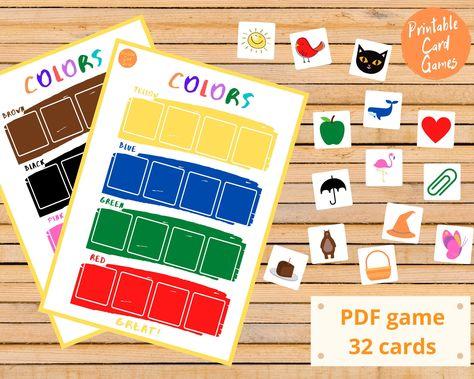 Сolor Sorting Worksheets for kids - Fine Matching Skills - pre k preschool kindergarden quiet busy book toddler printable