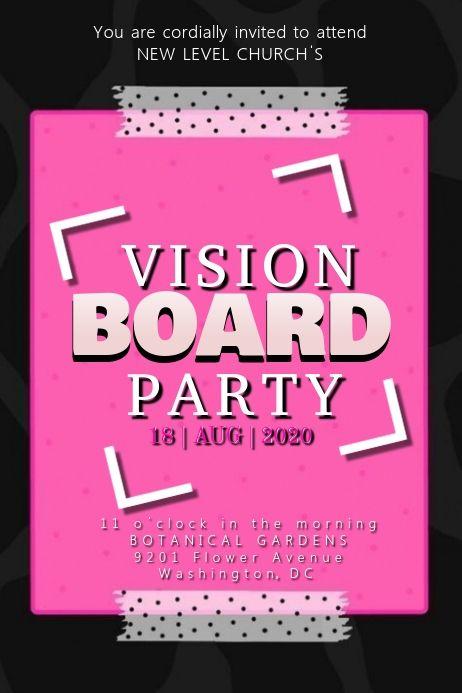 Vision Board Party Vision Board Party Party Invitations