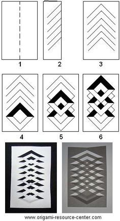 Learn how to make a kirigami window decoration. Very easy t.- Learn how to make a kirigami window decoration. Very easy to make and uses only paper and a pair of scissors. Free instructions to other origami and kirigami arts and crafts. Read more… - Origami And Kirigami, Paper Crafts Origami, Diy Paper, Art And Craft Videos, Paper Weaving, Card Making Techniques, Paper Folding Techniques, Paper Folding Art, Origami Folding