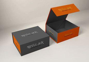 Download Magnetic Gift Boxes Mockup Affiliate Gift Magnetic Mockup Boxes Ad Box Mockup Magnetic Gift Box Mockup Design