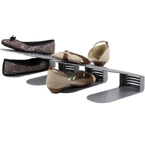 4 Range chaussures clairRangement plastique en gris PZiukOX