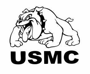 USMC Marines War Dogs Punisher Flag Guns Car Truck Window Decal White 6X6.7