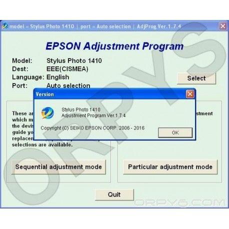 Epson Photo 1410 Adjustment Program in 2019 | Free download