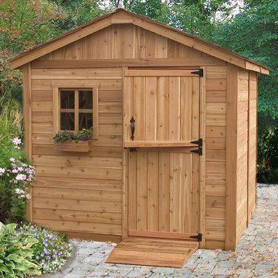 Wood Outdoor Storage Shed Great Little Shed To Organize Your Garden Tools Supplies Space Saver Very Attractive Wi Cedar Shed Outdoor Storage Sheds Shed
