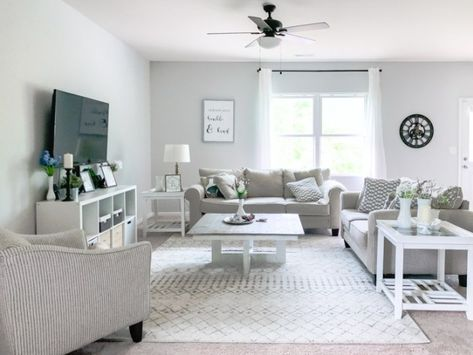 Our Neutral Modern Farmhouse Living Room