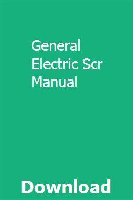 General Electric Scr Manual Pdf Download Online Full General Electric Pdf Download