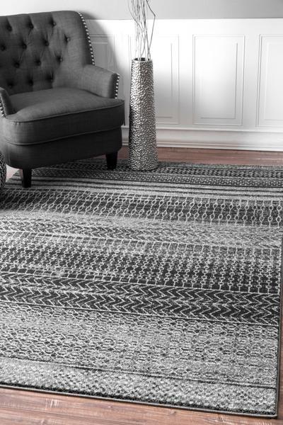 Nuloom Nova Stripes Dark Grey Area Rug Rugs In Living Room Home Decor Home Decor Bedroom