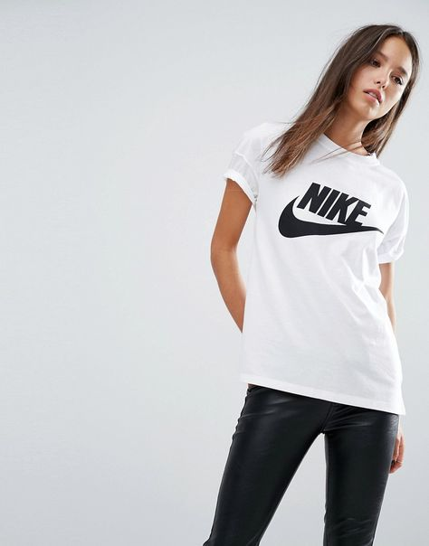 Nike Tee shirt Signal W femme Blanc pas cher
