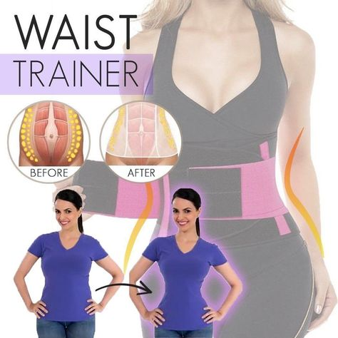 Look and feel SEXIER with the magic of WAIST TRAINER!   WAIST TRANER is an amazing WAIST BAND that shapes your waist down to 3-5 INCHES when you wear it. It gives you INSTANT CURVES and BACK SUPPORT. It has a FLEX-BONING TECHNOLOGY that has FOUR REINFORCED ACRYLIC BONES that is encased to a HEAVY CANVAS that help HIDE
