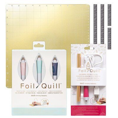 We R Memory Keepers Freestyle Pens All In One Kit With Calligraphy Tip Pen And 12 X 12 Magnetic Mat Bundle We R Memory Keepers Hand Lettering Place Card Holders