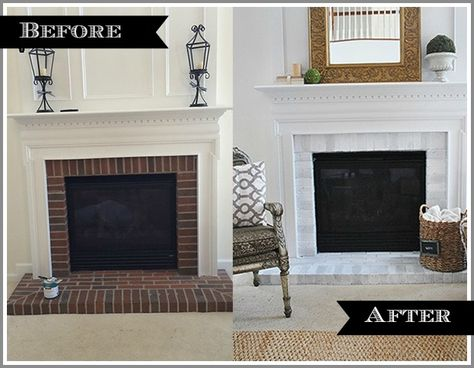 Updating a dark and dated fireplace is easy with some paint and a few hours time.