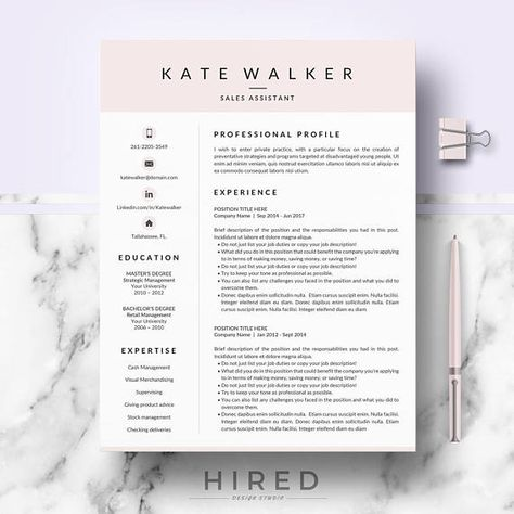 141 best Resume Templates for MS Word images on Pinterest Cover - office 2010 resume template