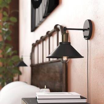 Icarus Gooseneck 1 Light Plug In Barn Light Plug In Wall Lights Plug In Wall Sconce Sconces