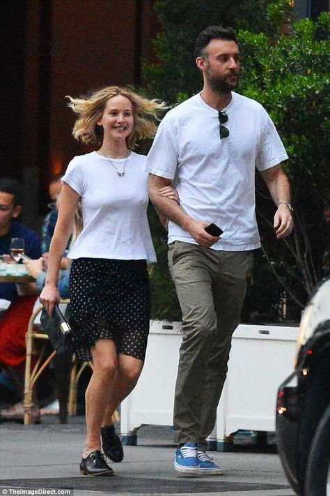 Official couple? The 27-year-old Academy Award-winning actress sported a flirty black mini... #jenniferlawrence