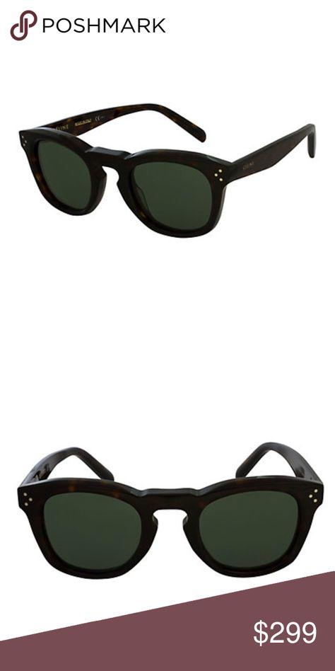145d1be4e1 Celine Sunglasses in Dark Tortoise NWT Céline Sunglasses Style 41371 S  145mm Frame shape  round Frame color  dark havana Lens color  green These  frames ...