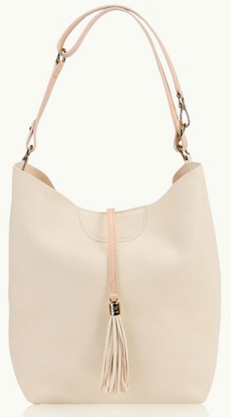 Ivory and Pink Minimal Hobo
