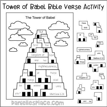 Bible Themes Tower Or Babel Babel Bible Themes Tower Preschool Bible Lessons Bible Activities For Kids Sunday School Kids