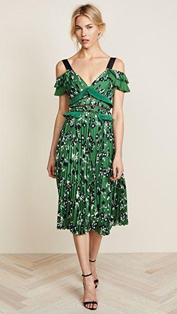 80672c568e2 Cold Shoulder Floral Printed Dress