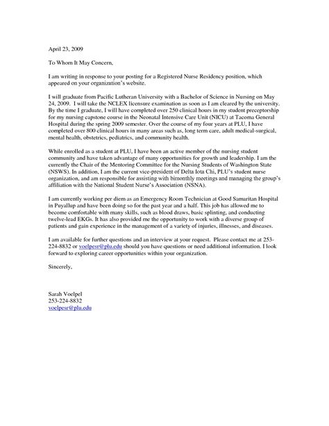 Cover Letter Template Mla