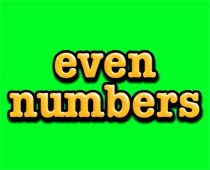 even number math song