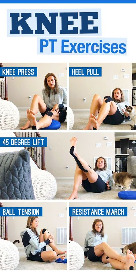 Knee Exercises for runners to improve stability, range of motion and prevent issues - used for meniscus, ACL and strains