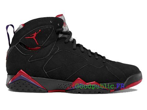 71946bc760f36 Nike Air Jordan 7 VII Retro Pull Chaussurse Pour Basketball Homme Noir rouge  304775-018-Air Jordan chaussures pas cher officielles Goodpublic.Fr