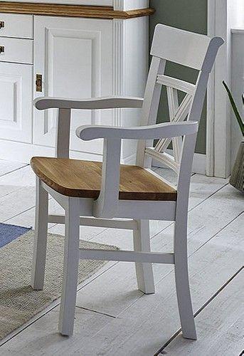 Massivholz Stuhl Mit Armlehnen Kiefer Wildeiche Geolt Bild 1 Haus Deko Esszimmerstuhl Eiche