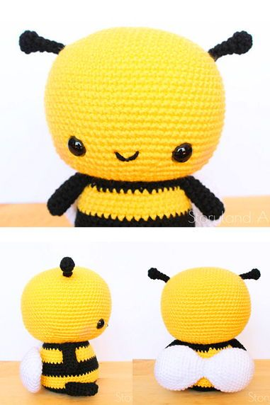 Free Crochet Bee Pattern - Grace and Yarn | 572x381