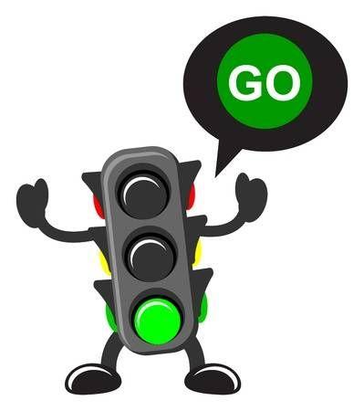 Illustration Of Cartoon Traffic Light Traffic Light Cartoon Clip Art Red Traffic Light