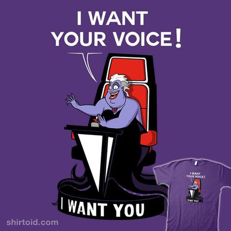 I Want Your VOICE! | Shirtoid