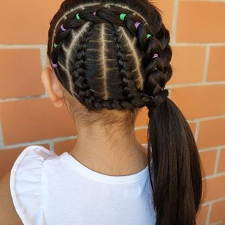Half Braided Tie Back I Used A Bobby Pin In The Middle Of The 3 Braids To Get The Crossed Appearance Also This Little Cott Twist Hairstyles Hair Hair Styles