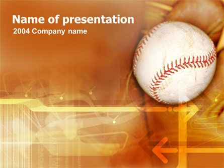 Baseball Ball Powerpoint Template Powerpoint Templates