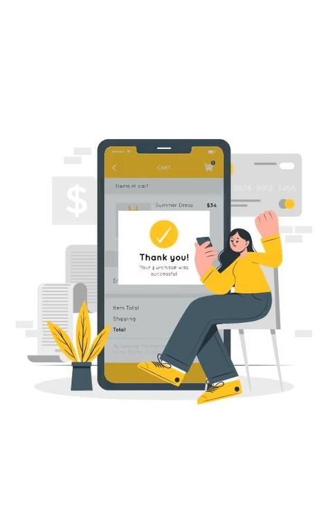 Successful purchase illustration | Cuate style