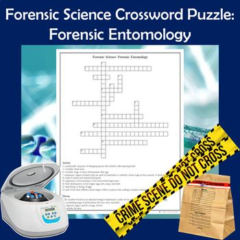 Forensic Science Crossword Puzzle Forensic Entomology Science Teaching Resources High School Science Forensics