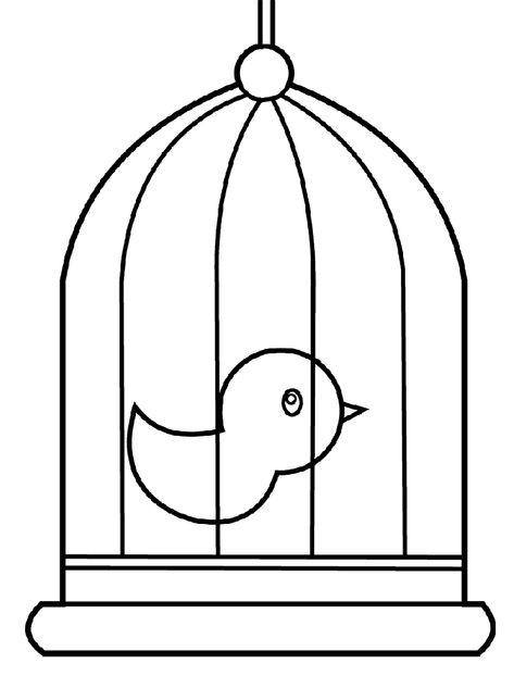 Kuş Boyama Sayfası Boyama Sayfasi Pinterest