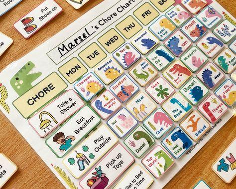Reward Chart for Kids, Printable Chore Chart, Dry Erase Chore Chart, To Do List Printable Routine, Preschool Calendar, Digital Chore Chart