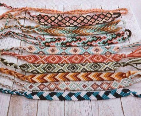 Summer Bracelets, Cute Bracelets, Braided Bracelets, Handmade Bracelets, Thread Bracelets, Loom Bracelets, Macrame Bracelets, String Bracelets, Macrame Jewelry