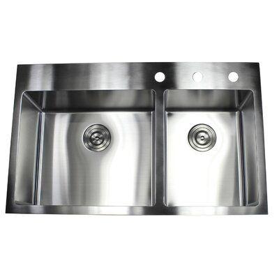 Emodern Decor 36 L X 22 W Double Bowl Kitchen Sink Double Bowl