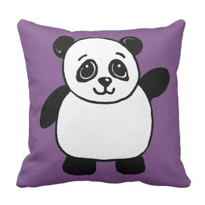 Panda decorative pillow Animal throw