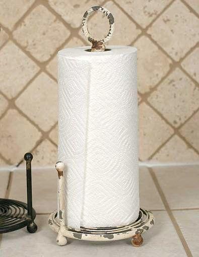 Provincial Paper Towel Holder Antique White Farmhouse Paper Towel Holders Paper Towel Holder Primitive Bathrooms