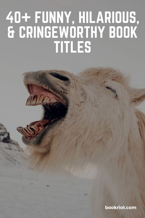 Laugh out loud with these funny, hilarious, and cringeworthy book titles. All of them are real books. book titles | funny book titles | embarrassing book titles | hilarious book titles | funny book titles list | real books with funny titles